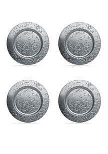 Galvanized Charger Plate Set of 4