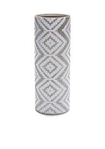 White Aztec Vase