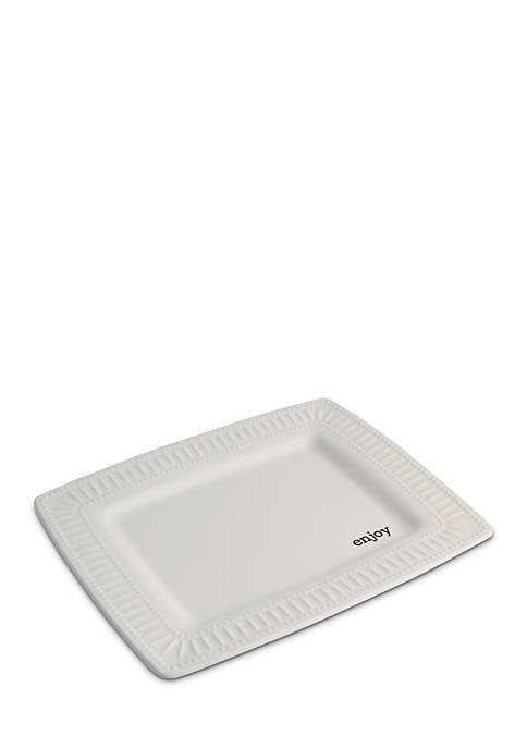 Enjoy Square Serving Platter