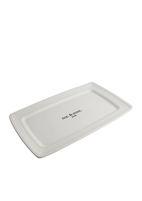 Modern. Southern. Home.™ Mr. and Mrs. 2018 Platter
