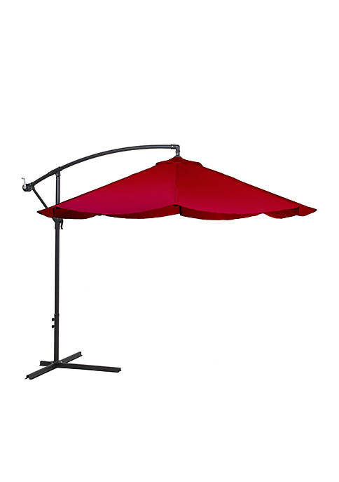 Pure Garden Offset 10 Aluminum Hanging Patio Umbrella