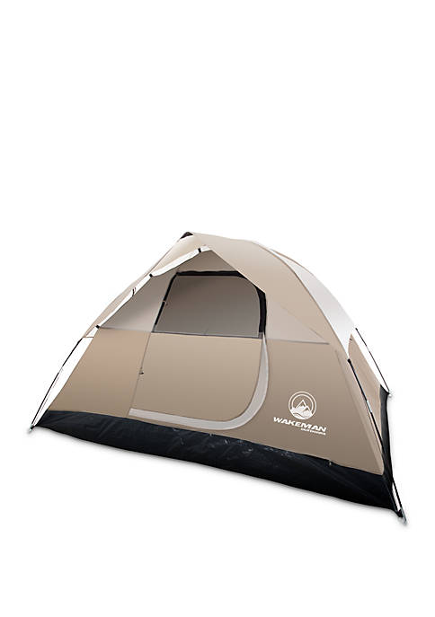 4-Person Water Resistant Dome Tent for Camping With