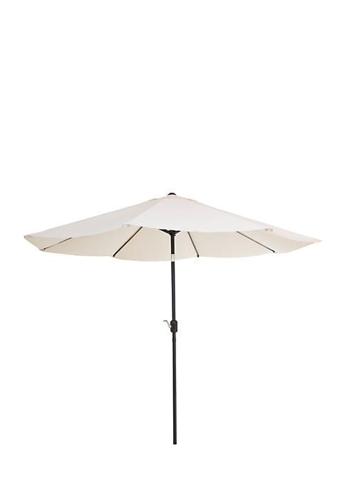 10 Foot Aluminum Patio Umbrella with Auto Tilt