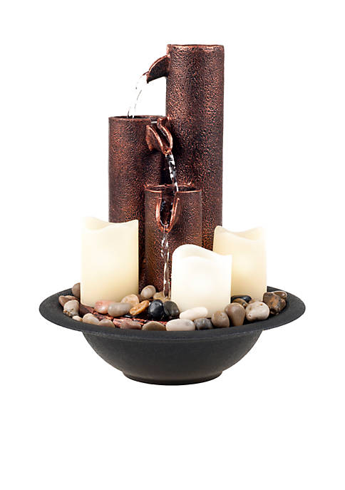 Pure Garden Water Fountain With LED Lights