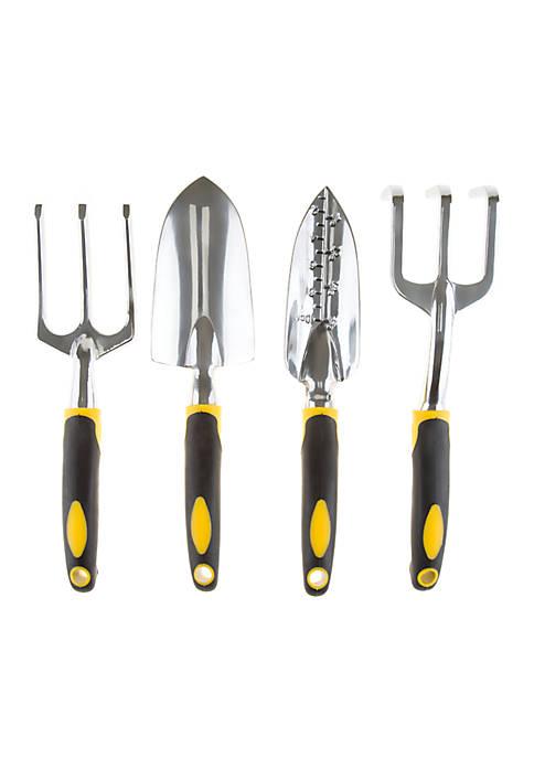 4 Piece Garden Tool Set with Comfort Grip Handles