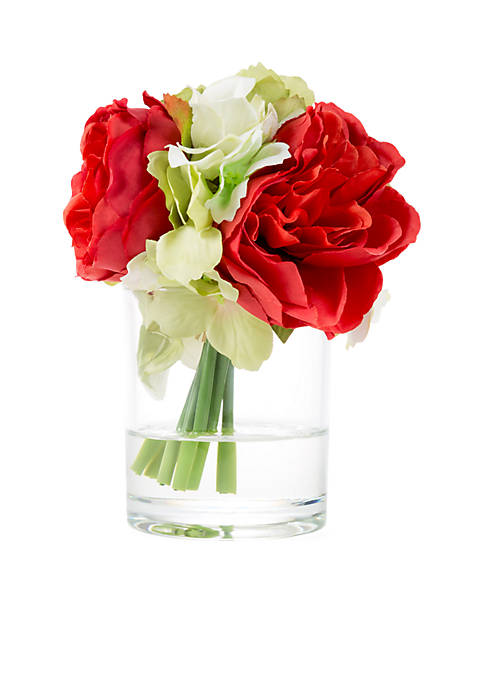 Hydrangea and Rose Artificial Floral Arrangement