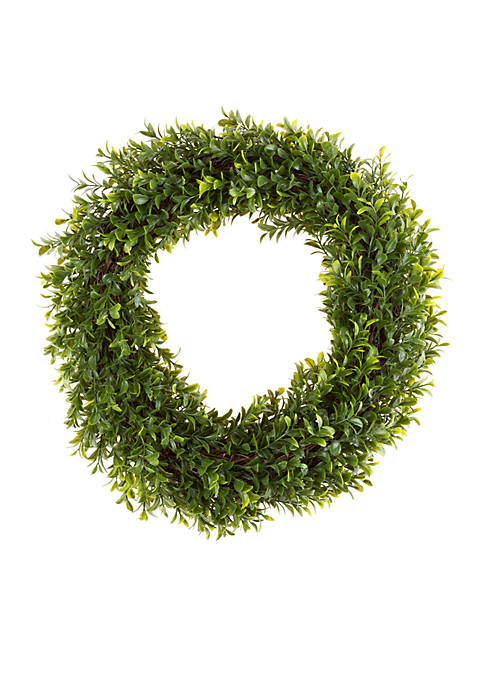 Pure Garden Artificial Hedyotis Round Wreath