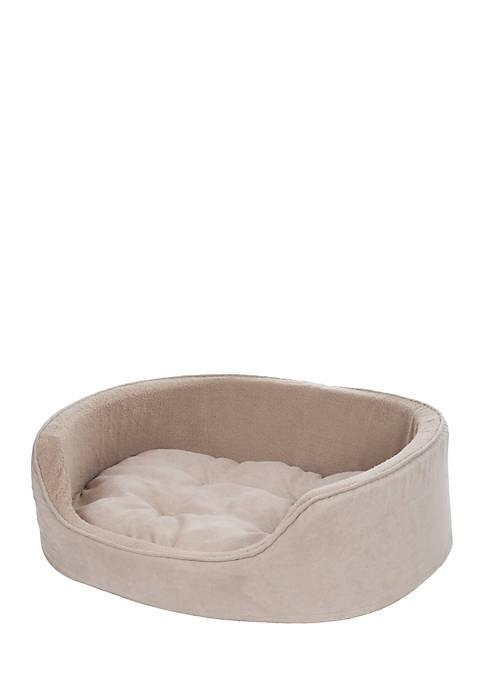 Petmaker Medium Cuddle Round Microsuede Pet Bed