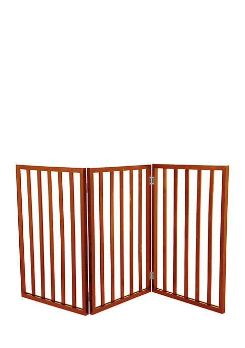 Petmaker Wooden Pet Gate- Mahogany