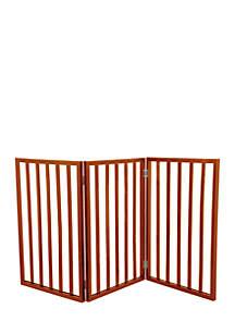 Petmaker Wooden Pet Gate- Mahogany
