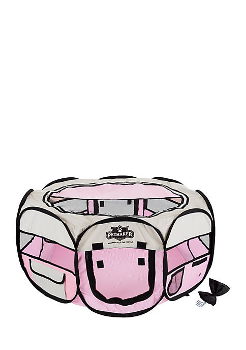 Petmaker Portable Pop Up Pink Play Pen