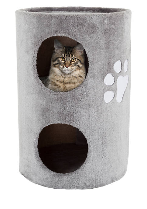 Petmaker Two Story Double Hole Cat Condo