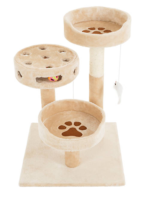 Petmaker 3 Tier Cat Tree With Scratching Post