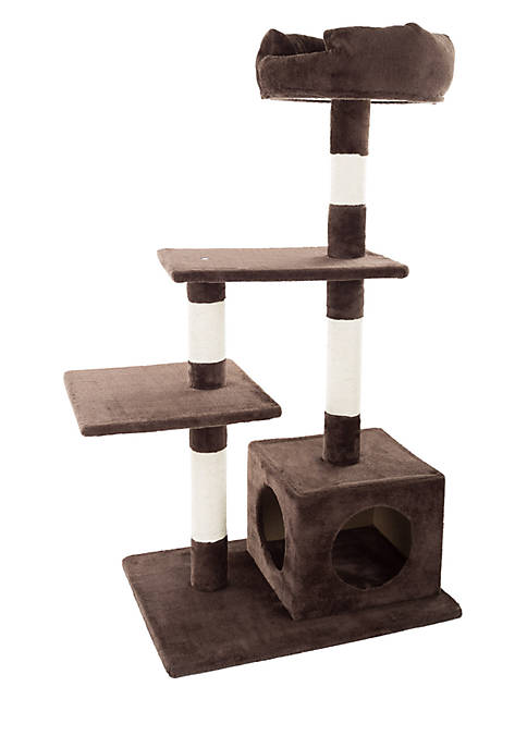 Petmaker 4-Tier Cat Tree And Penthouse Condo