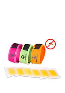Wakeman Mosquito Repellent DEET Free Bracelets 3 Wristbands + 6 Refills