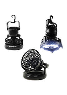 Wakeman Portable 2-in-1 LED Camping Lantern with Ceiling Fan