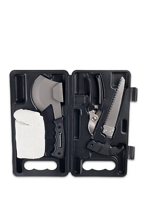 Camping Tool Kit with Axe Saw Clippers & Gloves