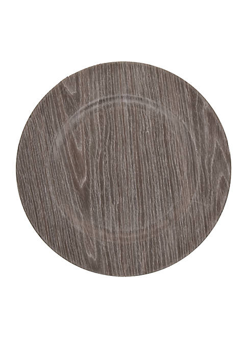 Charger Dark Wood Decorative Tray