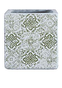 Square Cement Tile Planter
