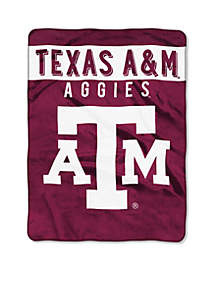 Texas A&M Aggies Royal Plush Raschel 60 x 80 Throw