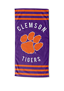 Northwest Clemson Tigers Stripe Beach Towel