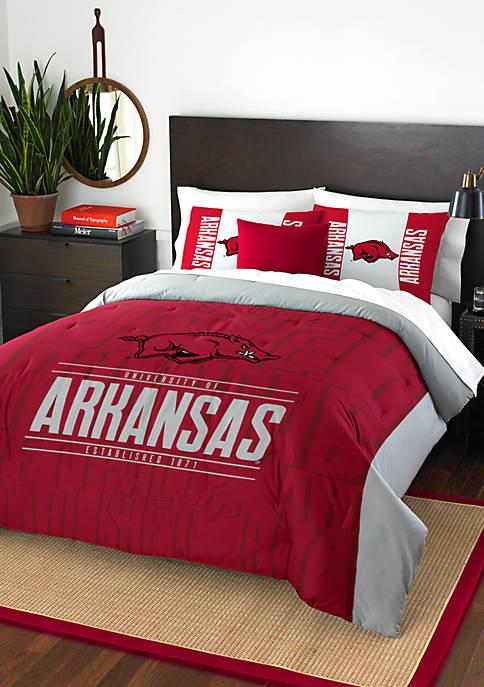 NCAA Arkansas Razorbacks Modern Take Comforter Set