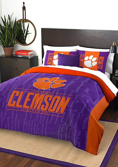 NCAA Clemson Tigers Modern Take Comforter Set