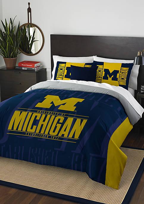 NCAA Michigan Wolverines Modern Take Comforter Set