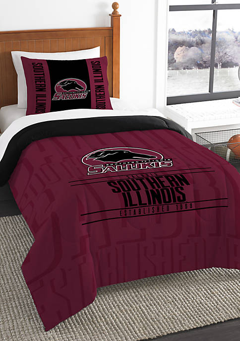 NCAA Southern Illinois Salukis Modern Take Comforter Set