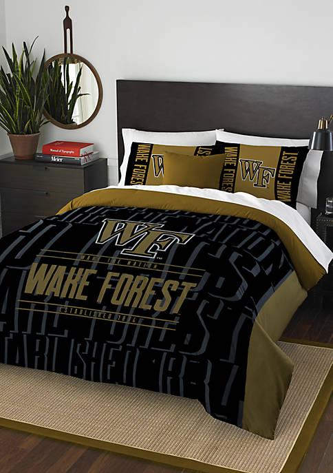NCAA Wake Forest Demon Deacons Modern Take Comforter Set