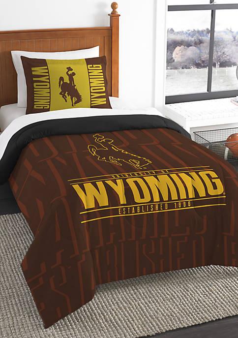 NCAA Wyoming Cowboys Modern Take Comforter Set
