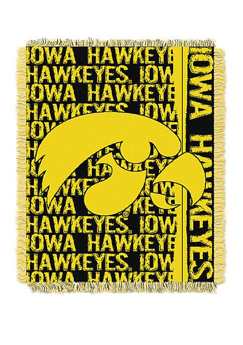 NCAA Iowa Hawkeyes Double Play Jacquard Woven Throw