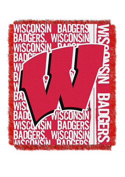 NCAA Wisconsin Badgers Double Play Jacquard Woven Throw