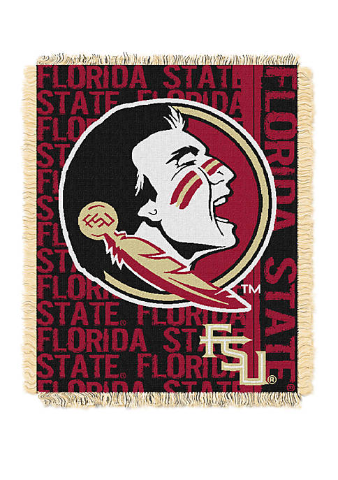 NCAA Florida State Seminoles Double Play Jacquard Woven Throw