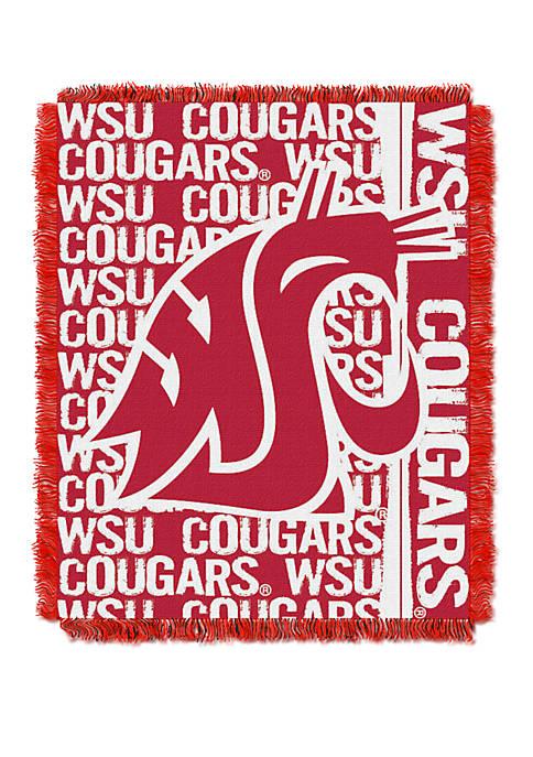 NCAA Washington State Cougars Double Play Jacquard Woven Throw