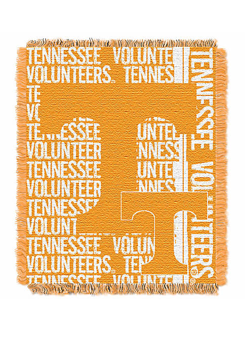 NCAA Tennessee Volunteers Double Play Jacquard Woven Throw