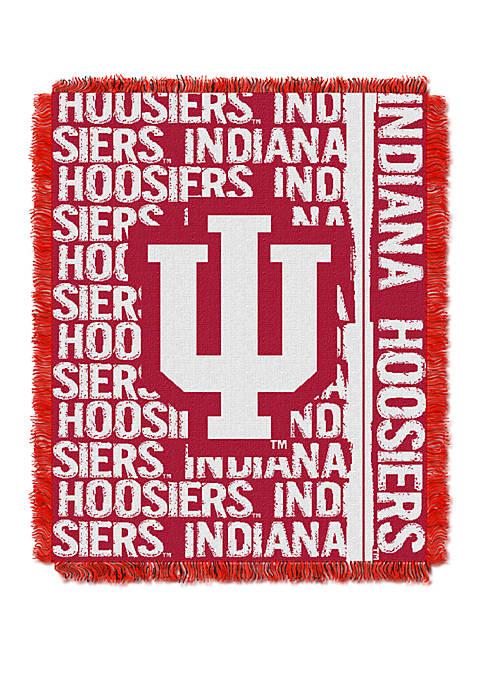 NCAA Indiana Hoosiers Double Play Jacquard Woven Throw