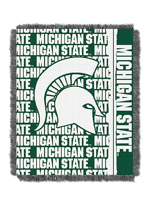 NCAA Michigan State Spartans Double Play Jacquard Woven Throw