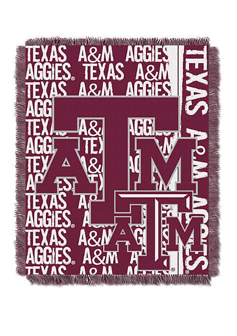 NCAA Texas A&M Aggies Double Play Jacquard Woven Throw