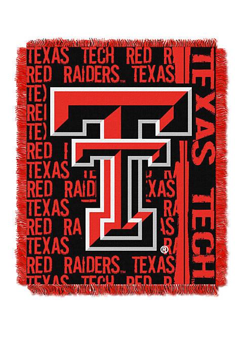 NCAA Texas Tech Red Raiders Double Play Jacquard Woven Throw