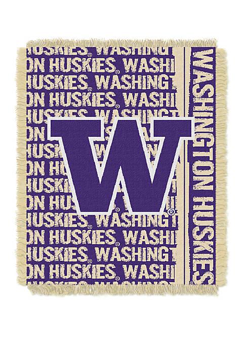NCAA Washington Huskies Double Play Jacquard Woven Throw