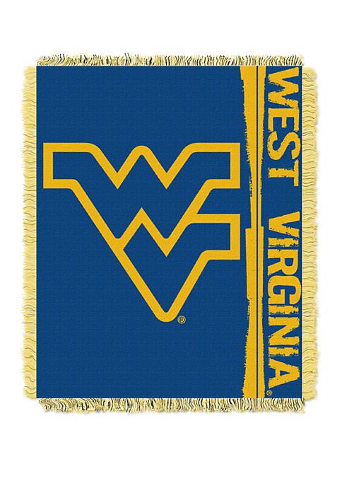 NCAA West Virginia Mountaineers Double Play Jacquard Woven Throw