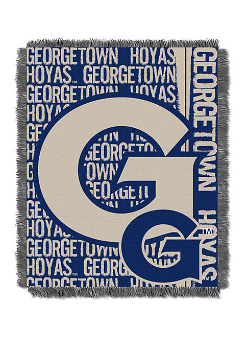 NCAA Georgetown Hoyas Double Play Jacquard Woven Throw