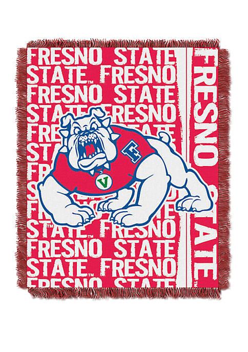 NCAA Fresno Bulldogs Double Play Jacquard Woven Throw