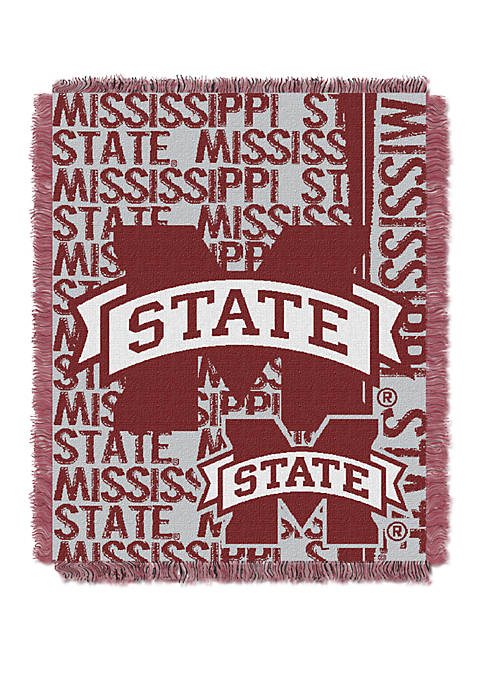 NCAA Mississippi State Bulldogs Double Play Jacquard Woven Throw
