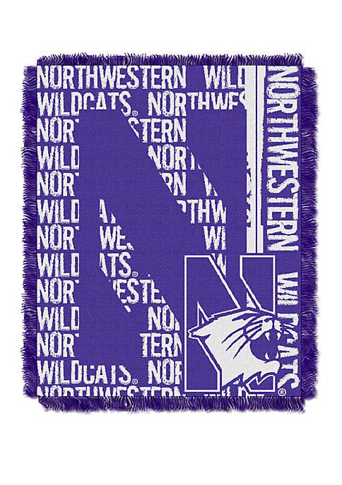 NCAA Northwestern Wildcats Double Play Jacquard Woven Throw