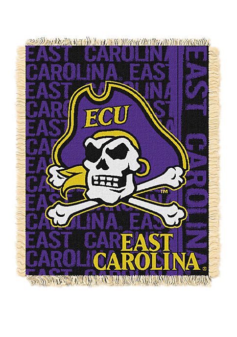 NCAA East Carolina Pirates Double Play Jacquard Woven Throw
