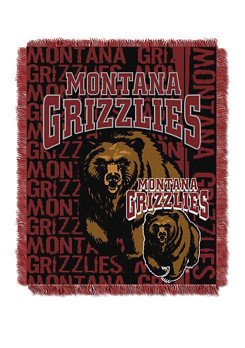 NCAA Montana Grizzlies Double Play Jacquard Woven Throw