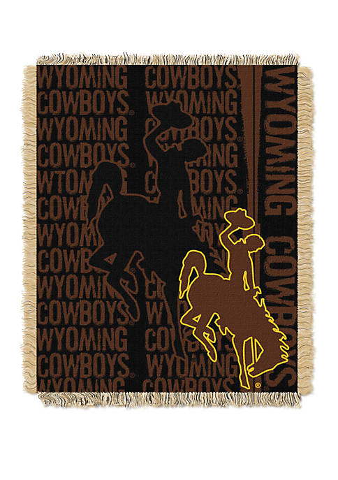 NCAA Wyoming Cowboys Double Play Jacquard Woven Throw