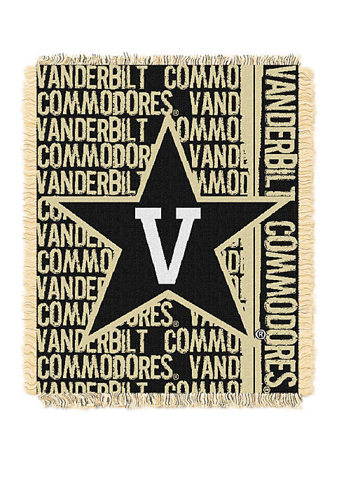 NCAA Vanderbilt Commodores Double Play Jacquard Woven Throw